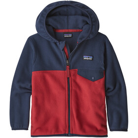 Patagonia Micro D Snap-T Veste Enfant, fire with neo navy